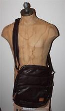 """AUTH Diesel Men's Brown """" diesel to the core """" Crossbody Shoulder Bag"""