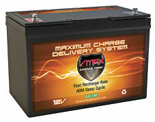 VMAX SLR100 12V 100Ah AGM Deep Cycle Battery for LG ELECTRONIC�€‹S Solar Panels