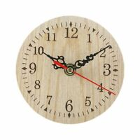 Wooden Wall Clock Silent Antique Shabby Retro Home Decoration Quartz Watch Decor