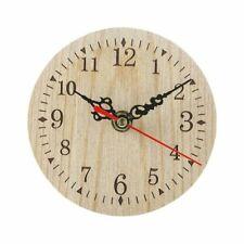 Wooden Wall Clock Silent Antique Shabby Retro Home Decoration Quartz Watch Decor