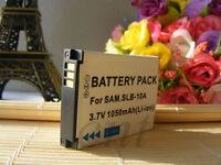 Digital Camera Battery SLB-10A Samsung P800 P1000 P1200 PL50 PL51 PL55