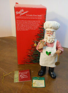 """Possible Dreams 8½"""" Tall Clothtique Santa 1996 A COOKIE FROM SANTA 805005 in Box"""