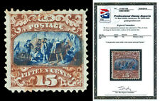 Scott 119 1869 15c Columbus Type II Used VF Red Cancel Cat $340 with PSE CERT!