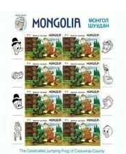 Mongolia - DISNEY - Mark Twain High Value Full sheet Of 8 Stamps - MNH