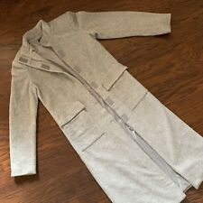 MNG by Mango Long Gray Coat - Size M