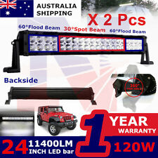 2x120W LED Work Light Bar Flood Fog Lamp Offroad UTE 4x4WD Auto SUV Jeep Trailer