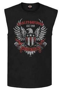 Harley-Davidson Men's Branded For Duty Sleeveless Crew-Neck Muscle Tank, Black