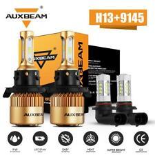 AUXBEAM LED Headlight Hi-Lo Beam + Fog Bulbs for 2007 2008-2014 Ford Expedition