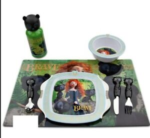 Disney Store Merida BRAVE Plate PLACEMAT Bowl CUP Spoon FORK Knife