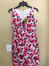 NEW KATE SPADE V Neck Rosebud Sheath dress pink/grey/blk Size 00 $378 Measure...