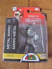 World of Nintendo Super Mario 1-3 METAL MARIO Figure 2.5 inch Jakks Pacific NEW
