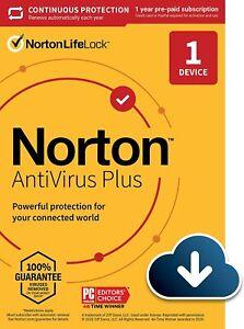 Norton Antivirus Plus 2021 1-Device 1 year Digital Download+2GB Cloud-via Email