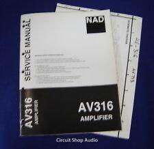 Original NAD AV316 Amplifier Service Manual