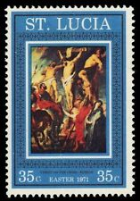 """ST. LUCIA 292 (SG307) - Easter Paintings """"Christ on the Cross"""" (pa28209)"""