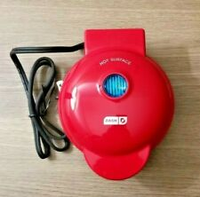 "Dash Mini Waffle Maker Red 4"" Round"