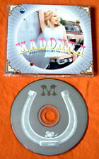 Madonna what it feels like for a girl + 3 2001 CD MAXI TOP RARE programmazione a oggetti MCD sesso