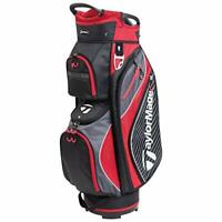 TaylorMade Pro Cart 6.0 Golf Bag, Black/Red, One Size