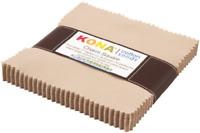 "Kona Cotton PARCHMENT Charm Pack 5"" x 42 Squares Quilting Fabric CHS-207-42"