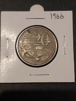 1966 20 Cent circulated coin