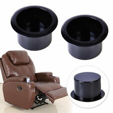 2x Plastic Black Insert Cup Holder fit Sofa Couch Poker Tables Boats Car Trailer