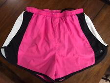 Ideology Women's Running Athletic Exercise Pink w/ Black white trim Sz S Shorts