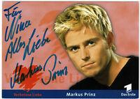 Markus Prinz -  VERBOTENE LIEBE - original signierte Autogrammkarte