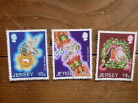 JERSEY 1986 CHRISTMAS SET 3 MINT STAMPS