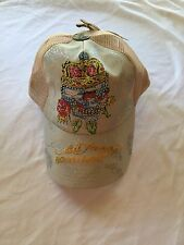 NWT Tan Ed Hardy Skull Crown Rhinestone Baseball Cap Hat
