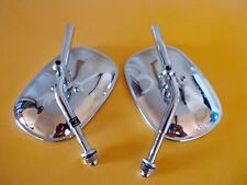 Harley Mirrors Shovelhead Sportster  Stainless Head NOS Made in Japan 91878-77