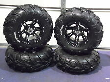 "25"" SUZUKI KING QUAD 500 WILD THANG ATV TIRE & SS212 BLK ATV WHEEL KIT  WARRANTY"