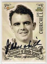 SIGNED CLIVE CHURCHILL RABBITOHS 2008 CENTENARY TOP 100 PLAYERS NRL CARD PROOF