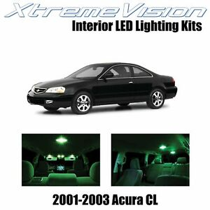 XtremeVision Interior LED Kit for Acura CL 2001-2003 (6 Pieces) Green