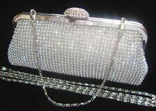 Bling Diamante Cristal Diamante Evening Bag Embrague Bolso Novia Boda Fiesta Prom