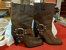 VERO CUOIO BROWN Leather Mid calf BOOTS WOMENS  SIZE 5M