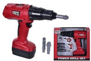 Power Tool Drill Set Kids Pretend Play Tool Set Boys Workshop Construction Toy