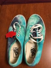 New Vans Off The Wall Tie Dye  Blue Skate Shoes Size US Mens 9 Womens 10.5