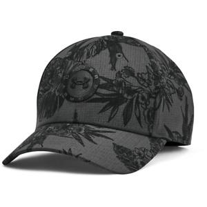 New 2021 Men's Under Armour Golf UA Jordan Spieth Tour Adjustable Hat Black/Gray