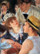 PIERRE AUGUSTE RENOIR LUNCH ON BOAT PARTY DETAIL OLD ART PAINTING PRINT 2447OMA