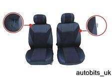 BLACK FABRIC FRONT SEAT COVERS FOR RENAULT ESPACE KANGOO TRAFIC MASTER