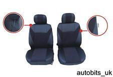 Tela De Color Negro Frontal cubiertas de asiento para Renault Espace Kangoo Trafic Master