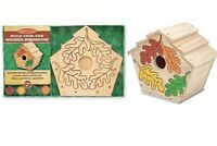 Melissa & Doug Build-Your-Own Wooden Birdhouse Fall Leaves Craft Kit DIY Kids 5+