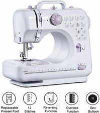 Electric Sewing Machine,Mini Portable 12 Stitches Double Thread With LED Light