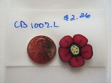 Jabc button #cb1007.l - Large Strawberry Flower