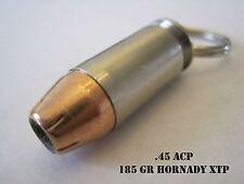 Replica .45 ACP Brass Bullet Keychain with Hornady XTP Bullet!! Handmade!!