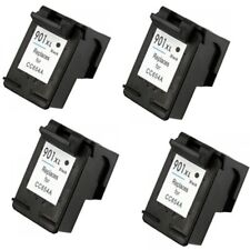 4x Remanufactured Ink Cartridges for HP 901XL Black CC654A for HP OfficeJet 4500