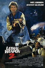 Lethal Weapon 2 movie poster - Mel Gibson, Danny Glover - 11 x 17 inches