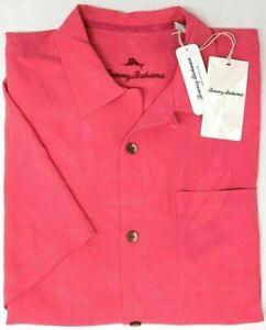 Tommy Bahama Floral Short Sleeve Camp Shirt Al Fresco Tropic Pink Ruffle NEW $99