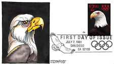 2540 $2.90 Priority Mail Judith Fogt hand painted cachet [68112]