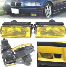 Pair OEM look YELLOW foglamps fog lights fogs foglights BMW 3 series E36 2dr 4dr