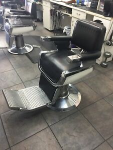 Black and silver barber chair belmont heavy duty pump base